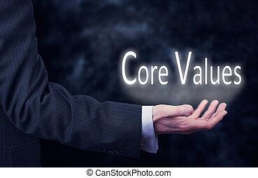centro, valori