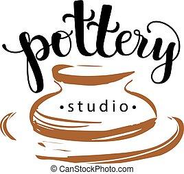 ceramica, logotipo, studio