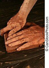 ceramica, mani, lavoro, vasaio, craftmanship, argilla