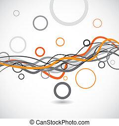 cerchi, astratto, vettore, linee, fondo