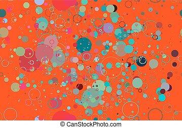 cerchi, colorato, modello, seamless, fondo, rosso