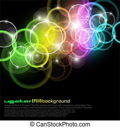 cerchi, colours arcobaleno, splendore