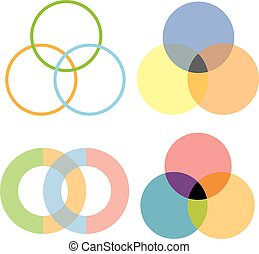 cerchi, disegno, intersezione