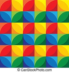 cerchi, &, grap, -, seamless, vettore, fondo, geometrico, squadre