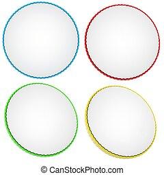 cerchi, set, colorato