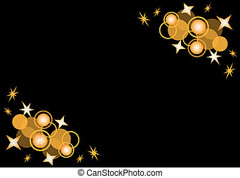 cerchi, stelle, nero