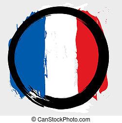 cerchio, bandiera, francia