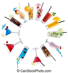 cerchio, cocktail, miscelare, pavimentato