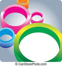 cerchio, fondo, 3d