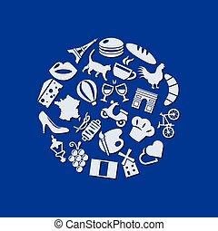 cerchio, francia, icone