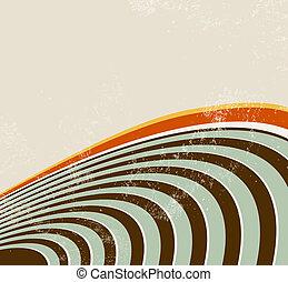 cerchio, linee, retro, fondo