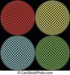 cerchio, ottico, illustrazione