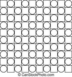 cerchio, quadrato, seamless, recinto