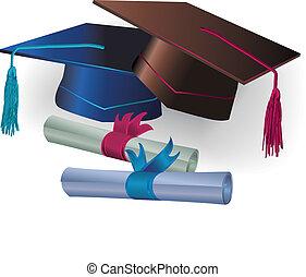certificato, graduazione, mortaio