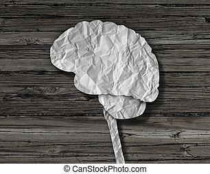 cervello, carta
