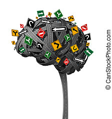 cervello, direzione