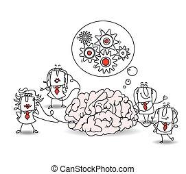 cervello, squadra affari