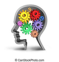 cervello, umano, attività