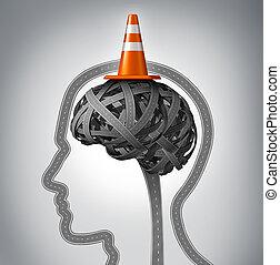 cervello, umano, riparazione