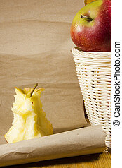 cesto, centro, mela, mele