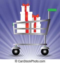 cesto, shopping
