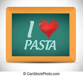 chalkboard., pasta, scritto, amore, illustrazione