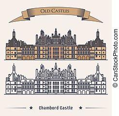 chambord castello, castello, francese, costruzione.