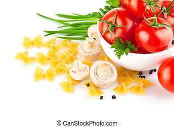 champignons, pasta, pomodoro, italiano