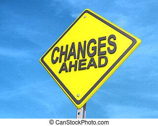 changes, avanti, segno rendimento
