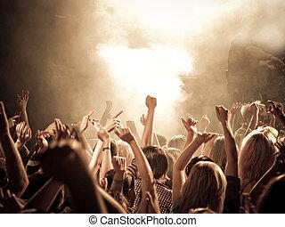 chanting, concerto, folla