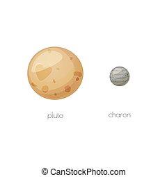 charon, relativo, luna, spazio, plutone, oggetti
