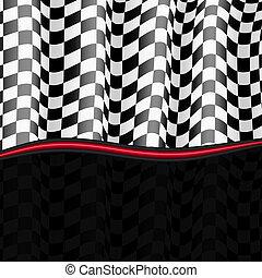 checkered, eps10, flag., fondo., vettore, da corsa