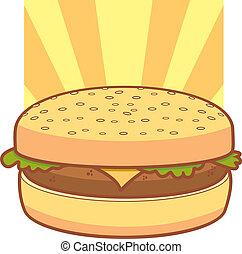 cheeseburger, cartone animato