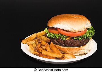 cheeseburger, frigge