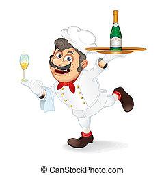 chef, cartone animato