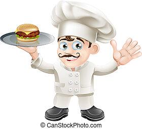 chef, cheeseburger