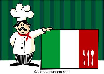 chef, cucina, italiano