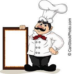 chef, cuoco, asse, vuoto