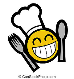 chef, sorriso