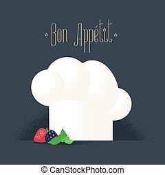 chef, vettore, cappello, illustrazione