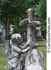 cherubino, croce, corona, monumento