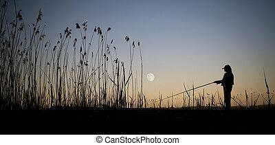 chiaro di luna, pesca