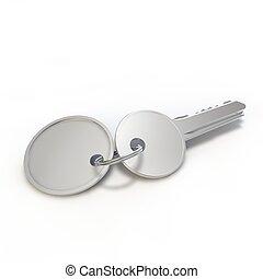 chiave, bianco, etichetta, isolato, fondo