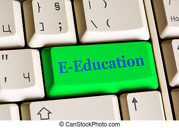 chiave, educazione, e