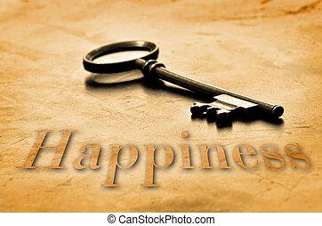 chiave, felicità