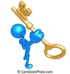 chiave oro, presa a terra