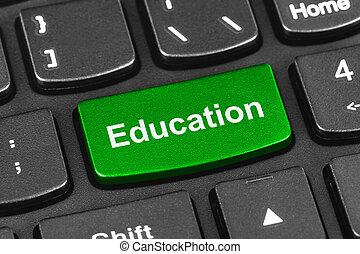 chiave, tastiera computer, quaderno, educazione