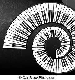 chiavi, astratto, grunge, pianoforte, fondo