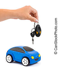 chiavi, automobile, mano