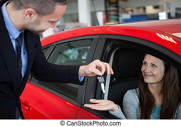 chiavi automobile, ricevimento, cliente